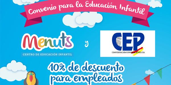 10% de descuento para empleados de la Confederación Española de Policía | Guarderías Menuts